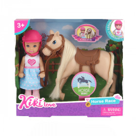 Kiki doll with a horse