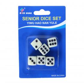 White dice 6 pcs