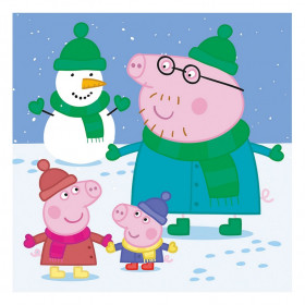 the puzzle 3x55 Peppa Pig