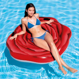 the inflatable pool lounger Red rose