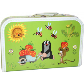 the Mole and strawberries suitcase, big