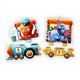 Train 94 cm-educational puzzle 20pcs
