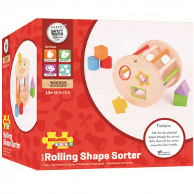 Bigjigs Baby Roller with shapes