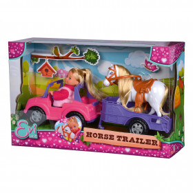 the Doll Eve with jeep and trailer
