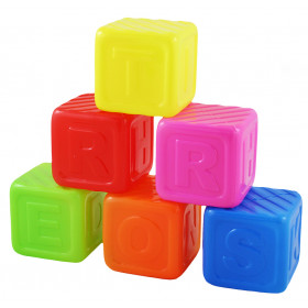 the plastic cubes with letters