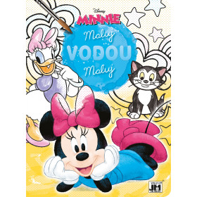 the coloring Paint with water Minnie