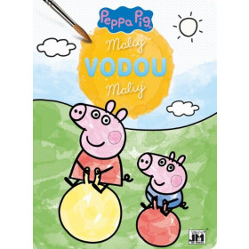 A4 Paint w/water Peppa Pig color. pages