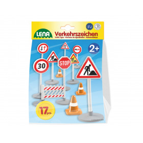 the traffic signs 16cm in bag