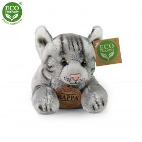 the lying plush grey cat, 18 cm