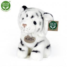 the sitting plush white tiger, 18 cm