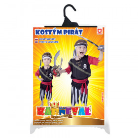the carnival costume pirate with scarf,M