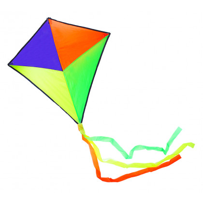 the flying kite, 72 x 72 cm