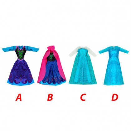 the doll clothes winter kingdom, 4 kinds