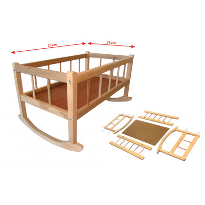 the wooden cradle, 50 x 28 cm