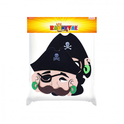 the Pirate mask 2 pcs in bag