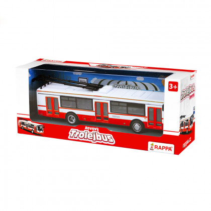 red steel trolleybus, 16 cm