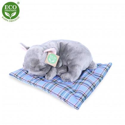 the plush bulldog on a pillow, 23 cm