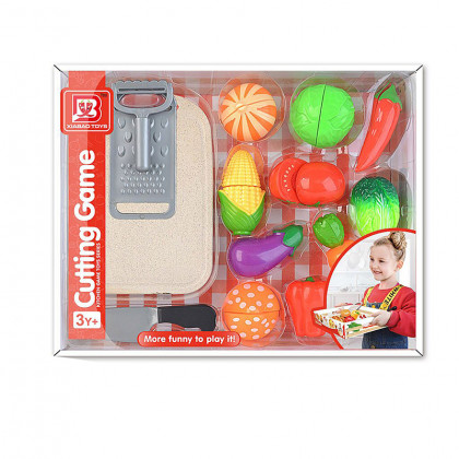 Set of slicing vegetables with Velcro