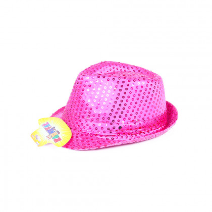 the pink disco hat with LED