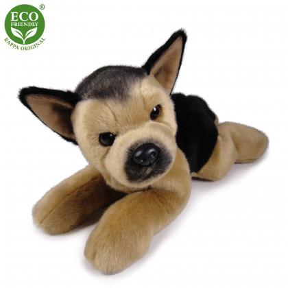 plush dog German Shepherd lying, 30 cm