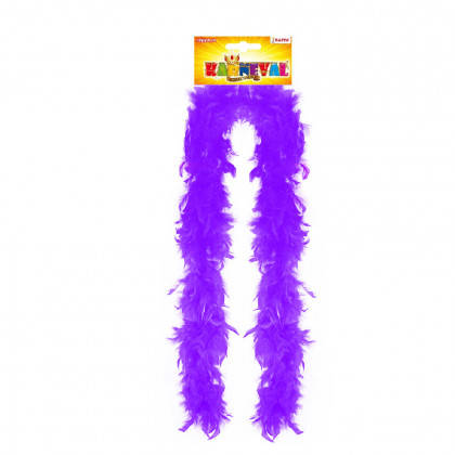 Boa purple with feathers 180 cm