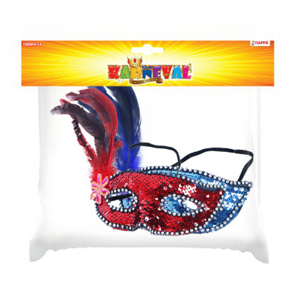 Ball mask with feathers