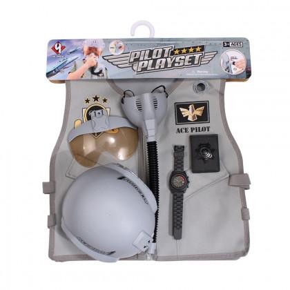Children's pilot vest with a helmet