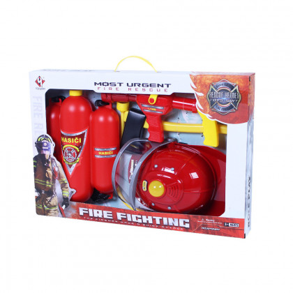 Firefighting set with accessories