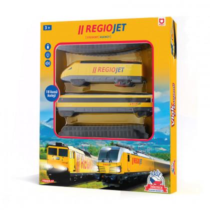 the RegioJet yellow train, sound & light