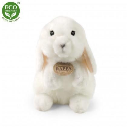 Plush rabbit standing white 18 cm