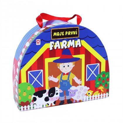 Farm Wooden figurines in briefcase