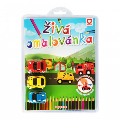Coloring book 3 racing cars