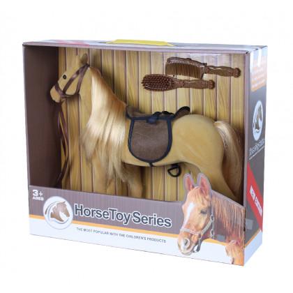 Flocked horse brown big