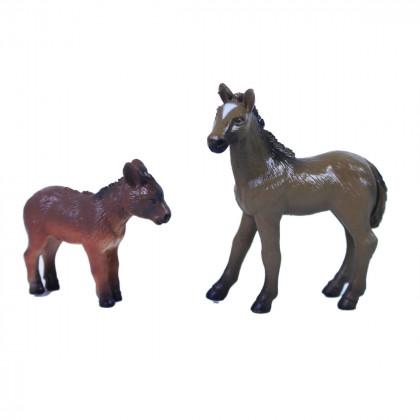 Farm animals 2 in 1 - horses