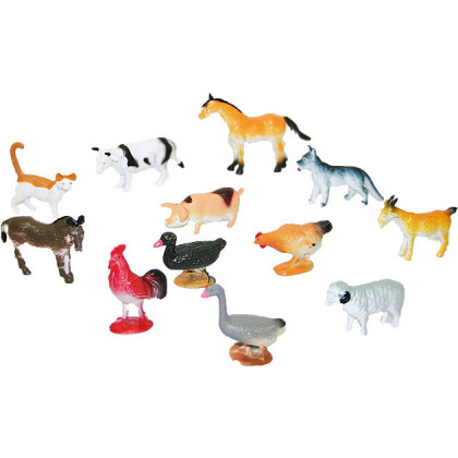the domestic animals, 12pcs in a package
