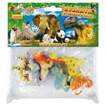the funny wild animals, 6 pieces,2 types