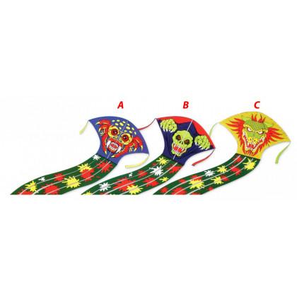 the kite flying monster, 43 x 70 cm