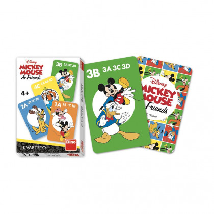 Mickey and Friends Quartet Cards Game