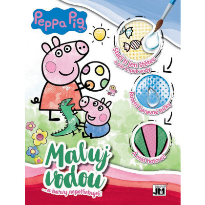 Coloring Book A4 Paint Water Peppa Pig